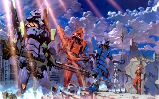 Neon Gensis Evangelion mech anime manga anno shinji asuka rei 30 day anime challenge cosmic anvil