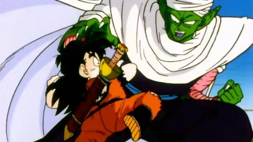 Piccolo training Gohan.