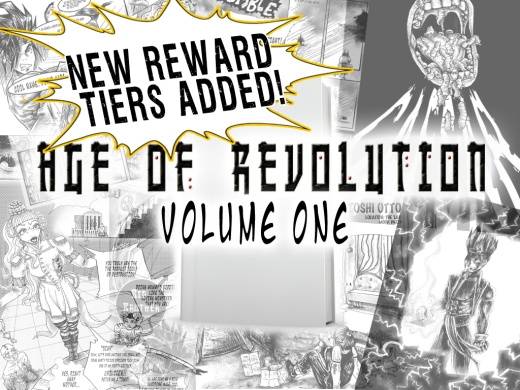 Kickstarter age of revolution volume one cosmic anvil new reward tiers added
