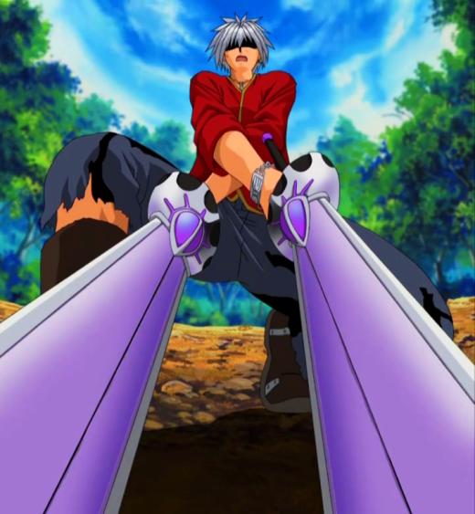 Haru Glory using Blue Crimson (Fire and Ice)