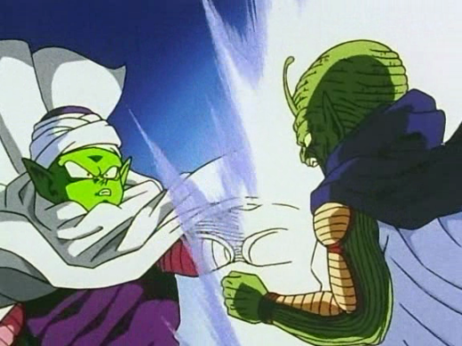 Piccolo and Kami fuse.