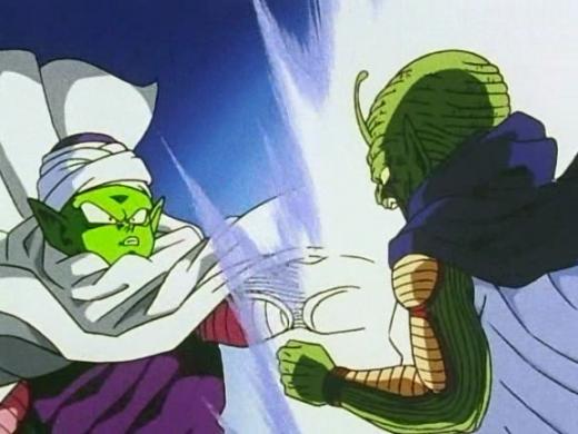 Piccolo and Kami fuse.