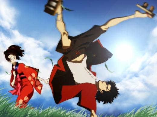 Samurai Champloo Megun showing off his breakdancing skills
