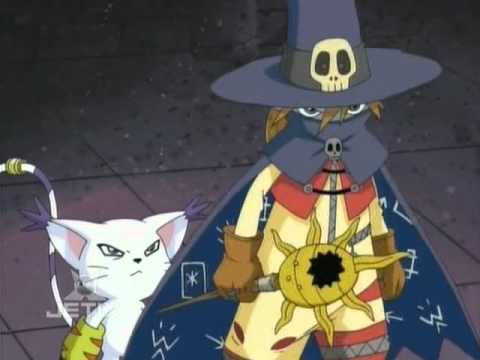 Wizardmon and Gatomon (left to right).
